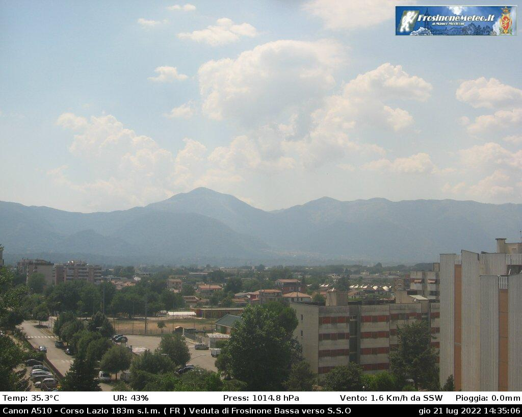 Webcam Frosinone bassa